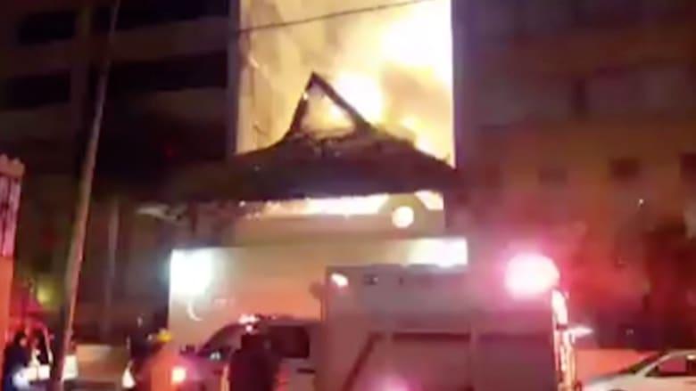 بالفيديو: حريق ضخم في بناية سكنية بالمكسيك