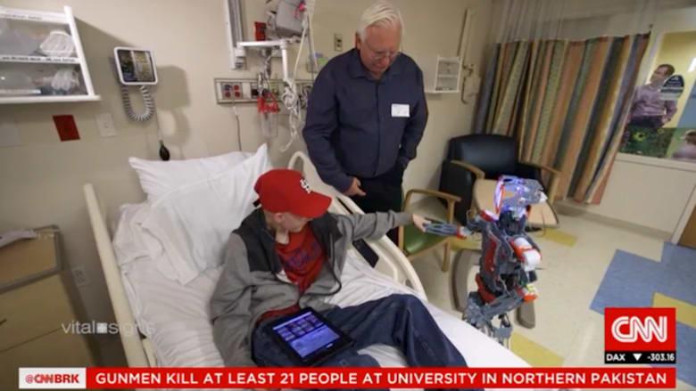 رجل آلي قد يحقق أحلام الأطفال المجبرين على البقاء في المستشفى أو ملازمة الفراش