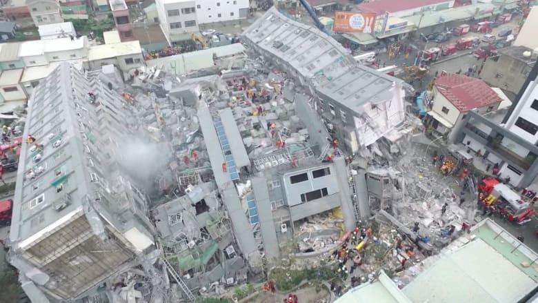 بالفيديو: زلزال تايوان المدمّر يُخلف 18 قتيلاً