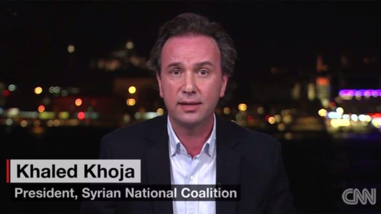 خالد خوجة لـCNN: الأسد كان على وشك السقوط ودعمه الروس.. وموسكو تستخدم اسلوبها في غروزني وتطبقه بسوريا