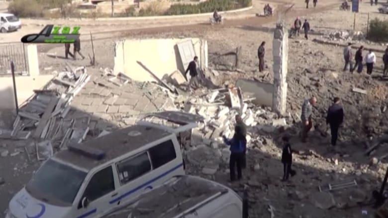 بالفيديو.. مصدر:15 قتيلا وأكثر من 40 جريحا بقصف جوي لمستشفيين ومدرسة بسوريا