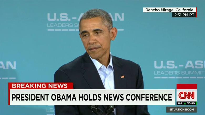 شاهد أوباما يتحدث عن سبب اعتقاده بأن دونالد ترامب لن يصبح رئيساً