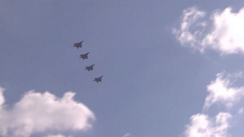 شاهد.. مقاتلات الشبح الأمريكية تستعرض عضلاتها في سماء كوريا الجنوبية