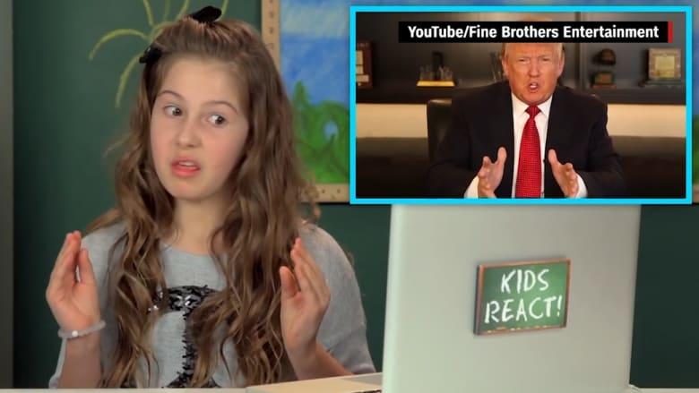 شاهد ردود فعل الأطفال الأمريكيين تجاه تصرفات ترامب في حملته الانتخابية