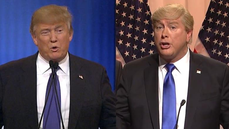 """برنامج SNL يسخر من جدال """"حجم اليد"""" بين المرشحين الجمهوريين ترامب وروبيو"""