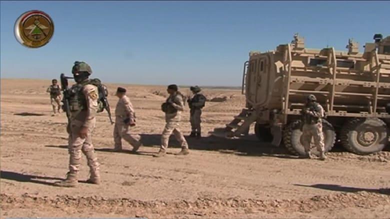 """شاهد.. معارك شرسة يخوضها الجيش العراقي مع مقاتلي """"داعش"""" غرب سامراء"""