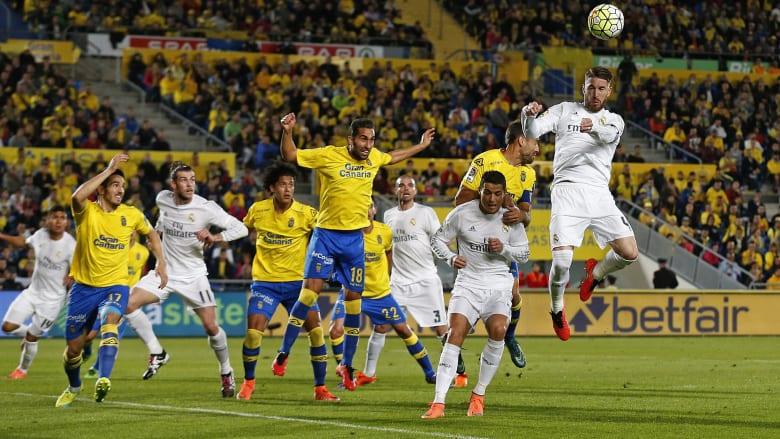 ريال مدريد يفوز على لاس بالماس بعملية قيصرية