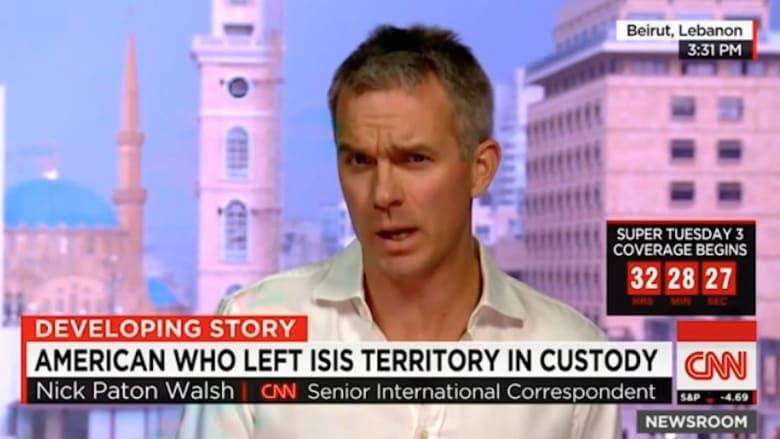بالفيديو: أمريكي يسلم نفسه للقوات الكردية بعدما خرج من أراضي داعش