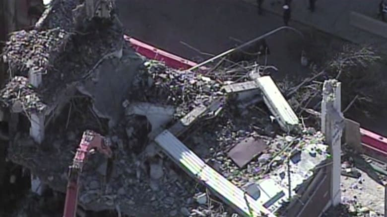 بالفيديو: انهيار واجهة بناء على حافلة مدرسية في فيلادلفيا