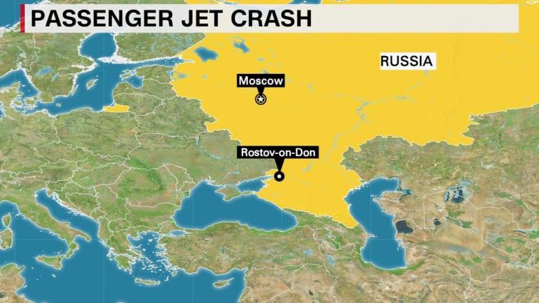 """بالفيديو: مقتل 62 راكباً في تحطم طائرة تابعة لـخطوط """"فلاي دبي"""" خلال محاولتها الهبوط"""