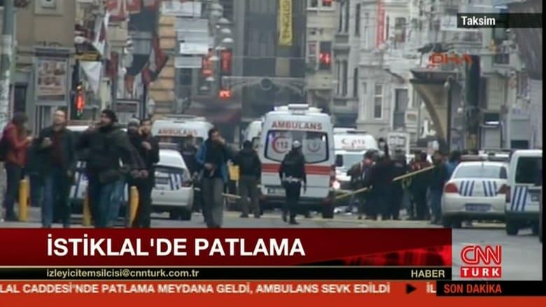 بالفيديو: المشاهد الأولية بعد انفجار وقع في مدينة اسطنبول