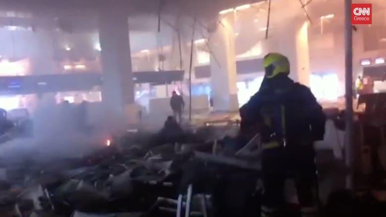 بكاميرا سائق تاكسي.. مشاهد من داخل مطار بروكسل بعد التفجيرات بلحظة