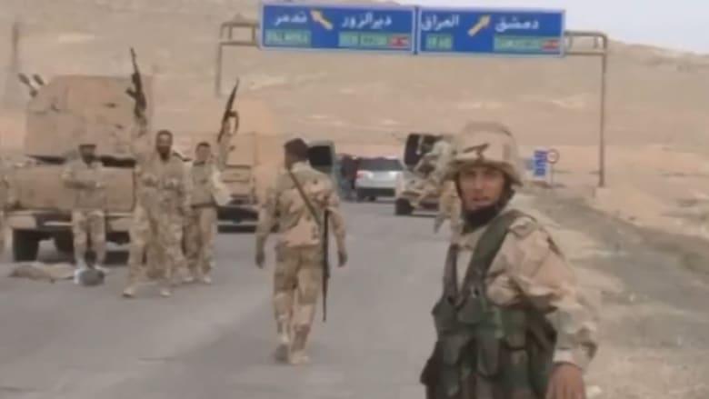 """شاهد.. النظام السوري ينشر فيديو لدخول قواته إلى تدمر وعمليات تطهيرها من """"داعش"""""""
