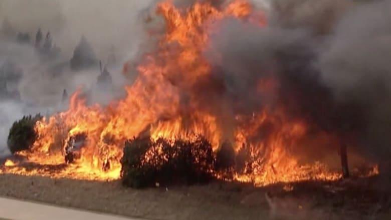بالفيديو: أكثر من عشرة حرائق متفرقة في غابات أوكلاهوما