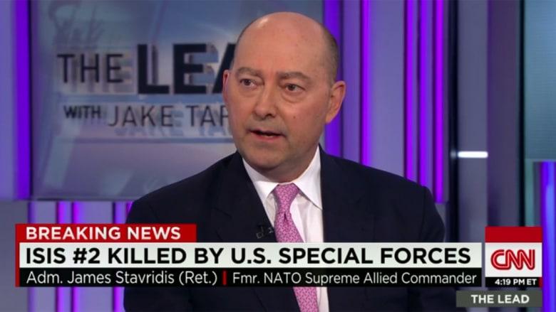 بعد إعلان مقتل الرجل الثاني بداعش.. قائد الناتو السابق لـCNN: سيأتي آخر مكانه.. ويظهر قدرتنا على الاستعانة بحلفائنا العرب