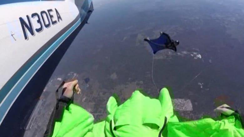 بالفيديو: لاعب قفز من السماء يسقط على الأرض مشلولا.. ويأمل في التحليق مجددا