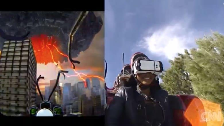 تعال إلى جولة بالأفعوانية في العالم الافتراضي.. وشاهد مزيج بين الواقع والخيال
