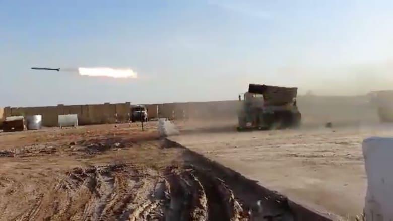 """شاهد.. الجيش العراقي يقصف مواقع """"داعش"""" بصواريخ غراد"""