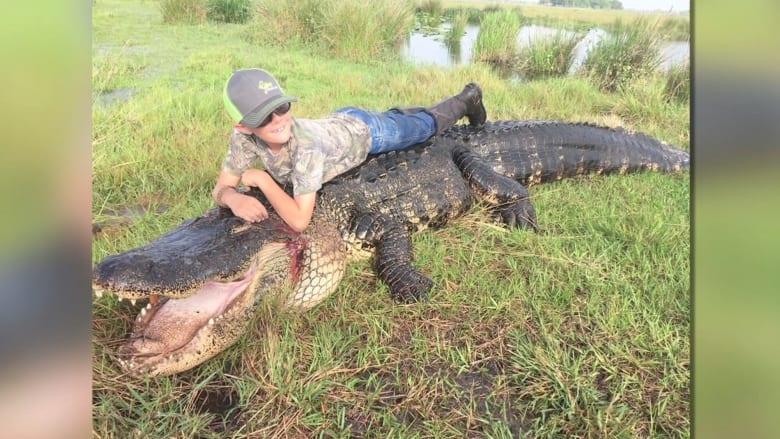 شاهد.. تمساح عملاق يفاجئ صيادين في فلوريدا