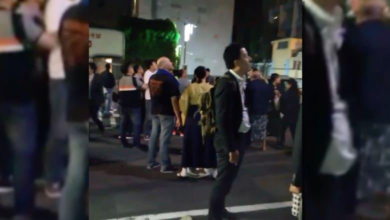 شاهد.. اللحظات الأولى بعد وقوع زلزال قوي في اليابان