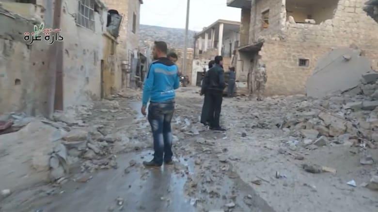 """بالفيديو: غارات تضرب 6 بلدات في حلب بعد يوم من بدء سريان """"وقف الأعمال العدائية"""""""