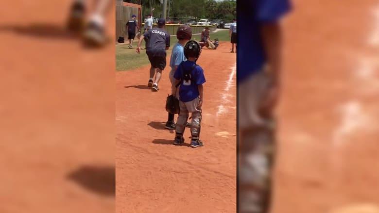 شاهد.. لكمات وصراخ بين مدربين خلال لعبة بيسبول