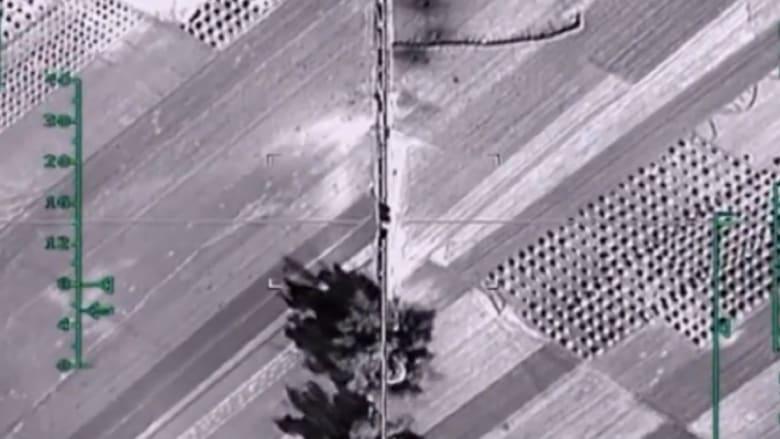 """وزارة الدفاع الروسية تنشر فيديو لغاراتها ضد """"داعش"""" بسوريا تشمل هجمات على حلب"""