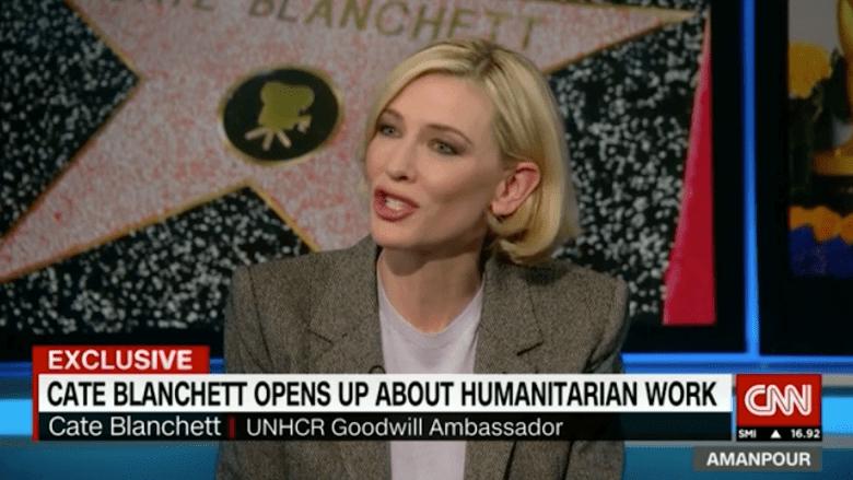 """كايت بلانشيت توصل رسالة نساء مخيمات اللاجئين للعالم: """"نحن قويات ونريد إعادة بناء سوريا"""""""