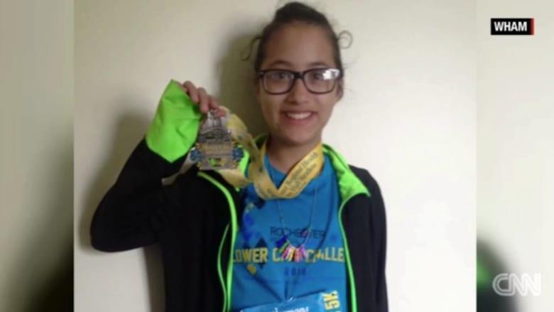طفلة في الثانية عشرة تجتاز سباق نصف الماراثون عن طريق الخطأ
