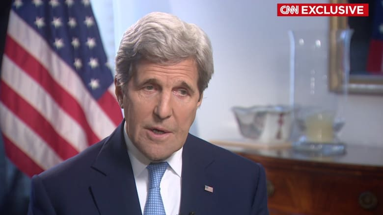 كيري لـCNN: إذا أرادت روسيا تفادي المستنقع في سوريا فعليها إيجاد حل سياسي