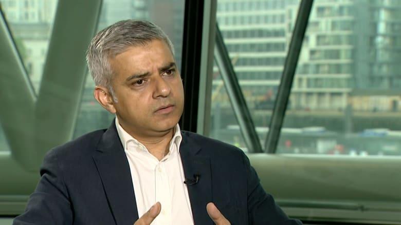 شاهد.. عمدة لندن لـCNN : نظرة ترامب وفريقه للإسلام تنم عن جهل