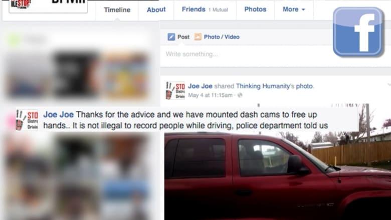 شاب يلتقط مقاطعاً مصورة للمخالفين وينشرها على فيسبوك للتحذير من المراسلة أثناء القيادة