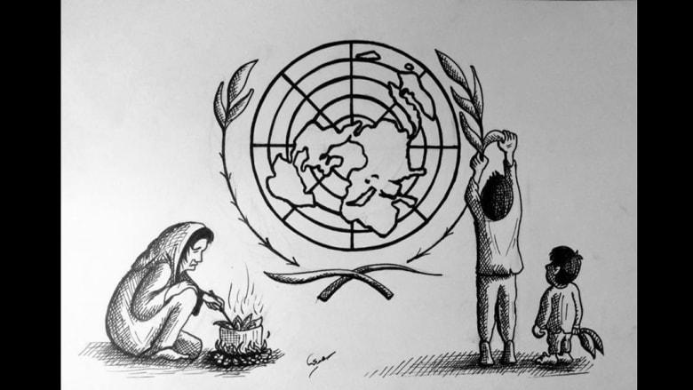 مخططات حرب: فنانون يرسمون صراعات الحرب السورية