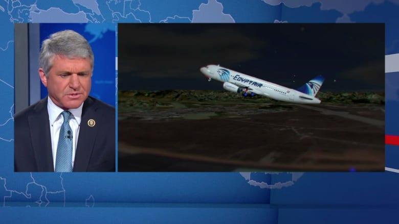 شاهد.. رئيس لجنة أمنية بالكونغرس الأمريكي: يبدو أن قنبلة أسقطت الطائرة المصرية