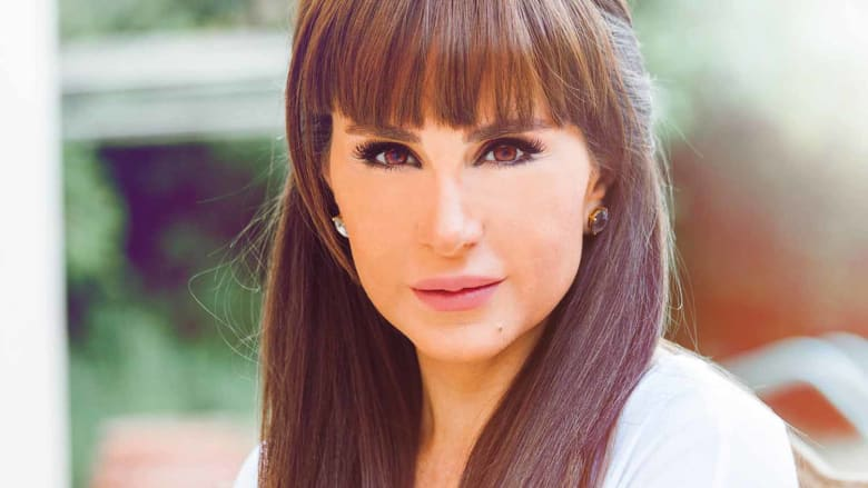 المغنية رشا، التي تلعب دورها ديما قندلفت.