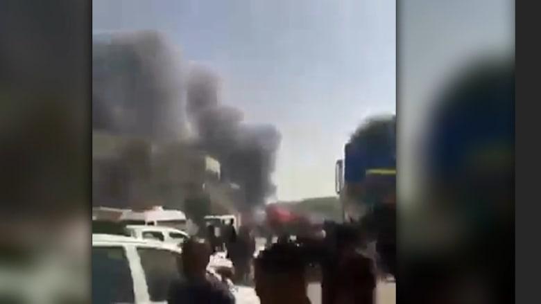 شاهد.. أول لحظات بعد انفجار سيارة مفخخة في كربلاء العراقية