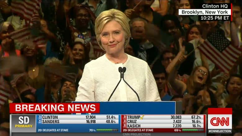 بالفيديو: هيلاري كلينتون أول امرأة في تاريخ أمريكا تترشح للرئاسة عن حزب كبير