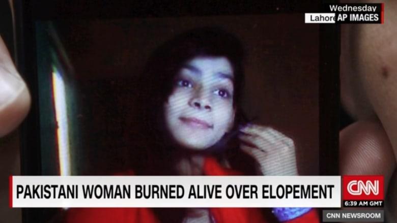 شاهد.. أمها وشقيقها يحرقانها حية لهروبها مع عشيقها
