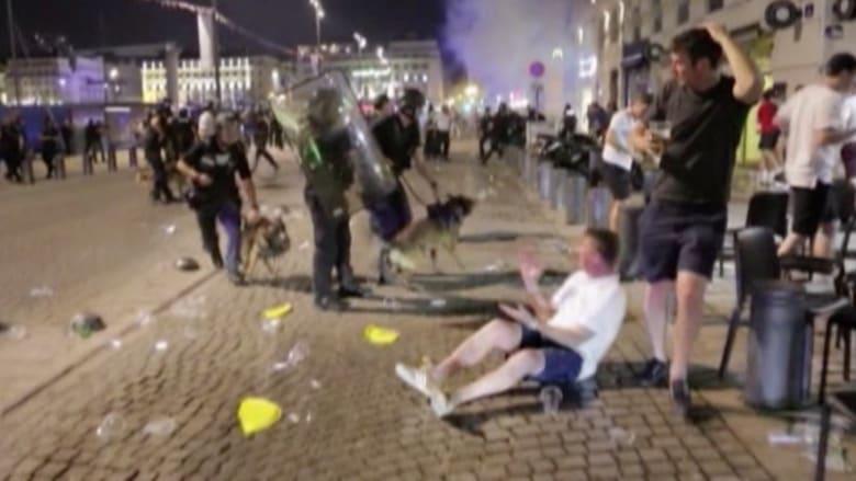 اشتباكات بين مشجعي إنجلترا والشرطة الفرنسية في مارسيليا