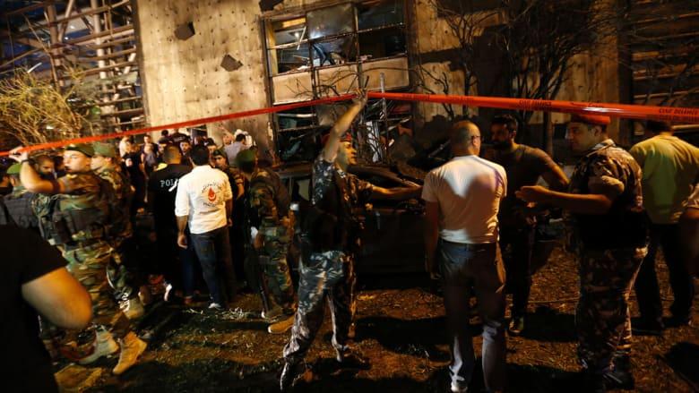 المشاهد الأولى للتفجير بالقرب من بنك لبنان والمهجر ببيروت