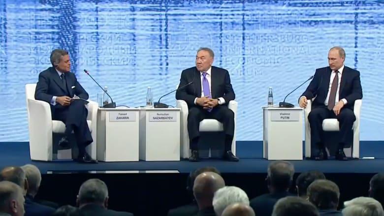 """بالفيديو: بوتين رداً على سؤال لفريد زكريا: ترامب شخصية """"لامعة"""".. لماذا التلاعب بكلامي؟"""
