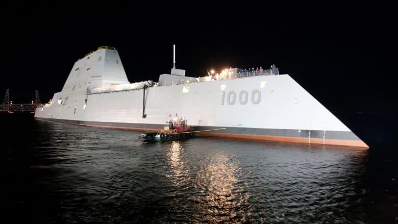 """بالصور.. تعرف على أحدث """"مدمرة شبح"""" لدى سلاح البحرية الأمريكي"""