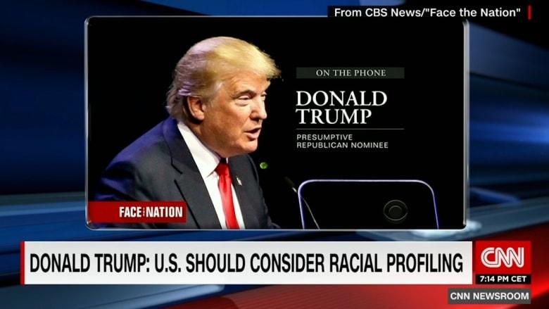 """دونالد ترامب: التصنيف العرقي ضد المسلمين """"ليس أسوأ ما يمكن فعله"""""""