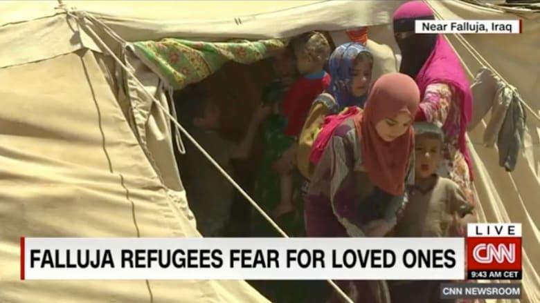 بالفيديو: تخلصوا من داعش.. لكن القلق يعتصر أهل الفلوجة على مصير أبنائهم