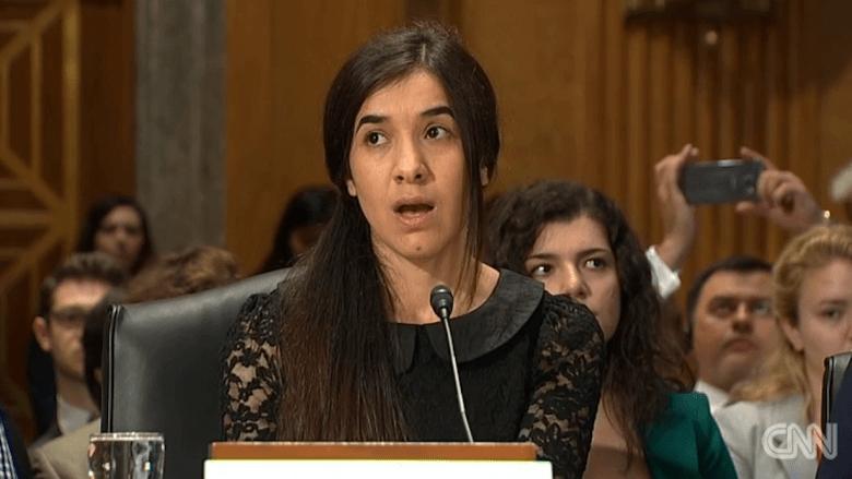 بالفيديو: أيزيدية استعبدها داعش جنسيا تتحدث بالكونغرس عن مآسي القتل والاغتصاب