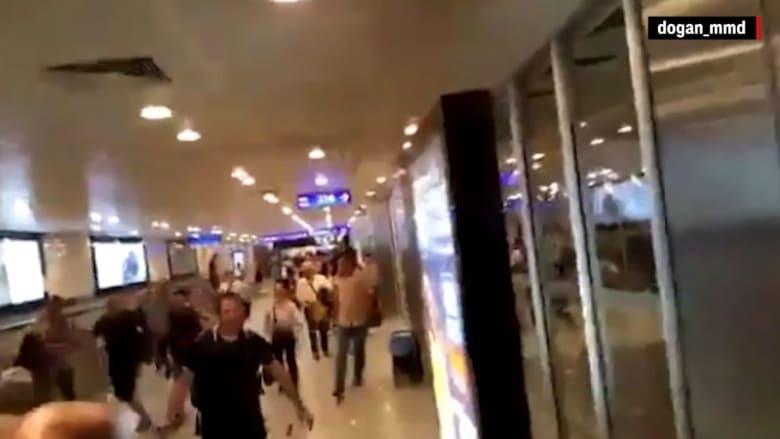مشاهد قوية التقطها مسافرون من داخل مطار أتاتورك أثناء تعرضه للهجوم