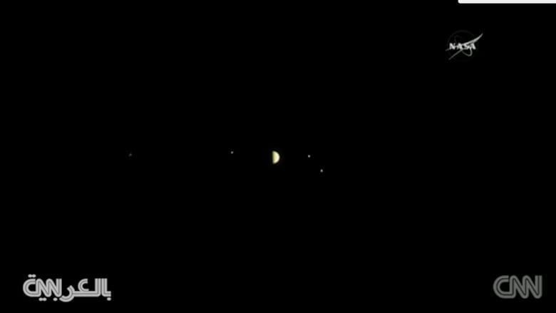 شاهد.. فيديو ناسا لثلاث أقمار تدور حول كوكب المشتري