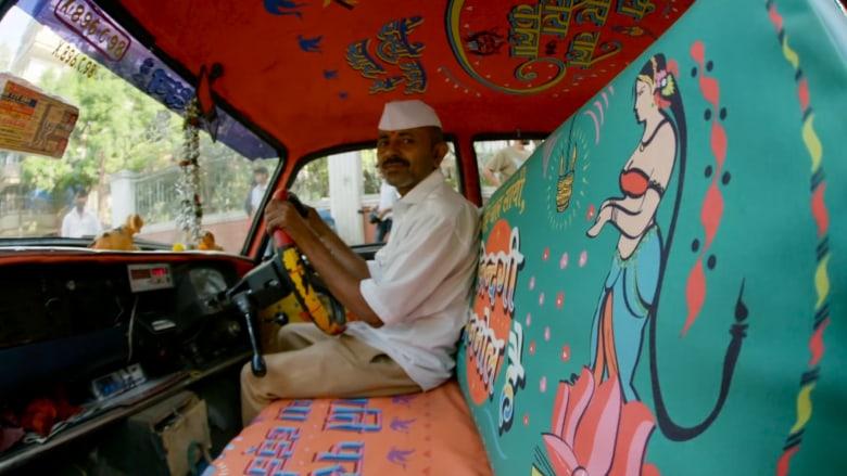 رسائل لتغيير المجتمع في سيارات التاكسي في مومباي