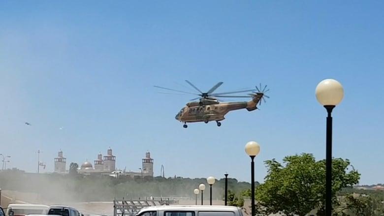 بالفيديو: مروحيات تنقل جرحى هجوم الرقبان بالأردن إلى المستشفى