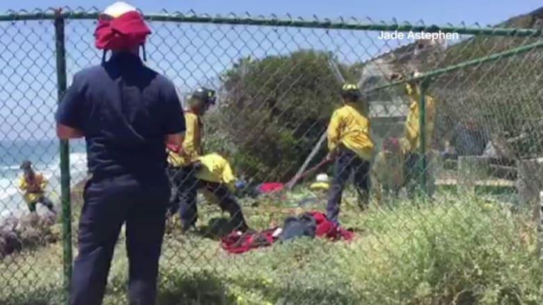 """بالفيديو: أول ضحايا لعبة """"بوكيمون غو"""".. رجلان ينزلقان على منحدر ارتفاعه 22 مترا"""